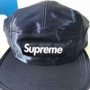 "Supreme ""liquid silk"" camp hat. Navy blue"